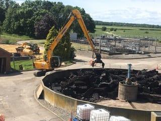 bagnall working blast furnace slag